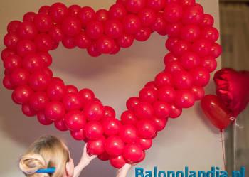 Walentynkowe duże serce, balonowe. Dekoracje Walentynkowe