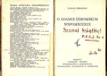 (8210) O ADAMIE ŻEROMSKIM WSPOMNIENIE (EGZEMPLARZ  NUMER 135