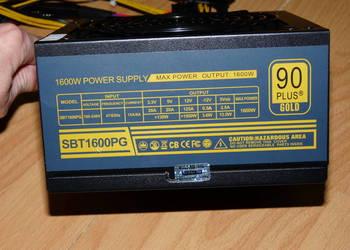 Zasilacz komputer 1600W NOWY dlugie kable 12x PCIe koparka