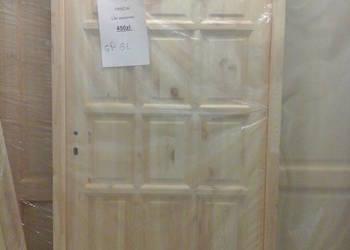 drzwi lite sosnowe drewniane Prawdziwe drzwi