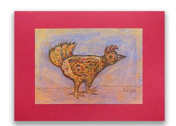 Rysunek z ptaszkiem,grafika do pokoju, obraz ptak, rys nr 29