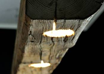 Lampa wisząca z belki drewnianej LOFT - Wemadeit