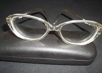 Okulary damskie korekcyjne ze szkłami -3,5lewe -3,75prawe D