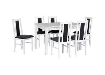 Biały Zestaw,Stół z 6 Krzesłami - Tanio!