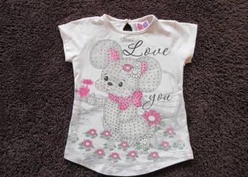 Bluzka dla dziewczynki cyrkonie słodka roz 92