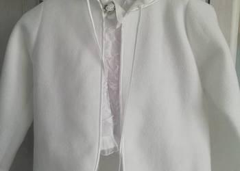 6cb08f71da Sukienka komunijna r.128 + bolerko wianek rękawiczki torebka ...
