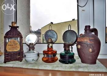 Trzy lampy naftowe 100 zl 1 sztuke