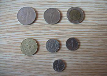 Liry włoskie; monety - zestaw
