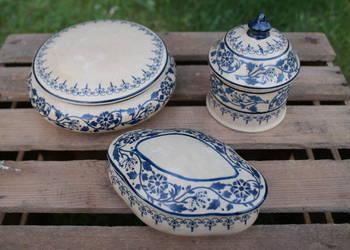 Szkatułka puzderko pudełeczko - ceramika - komplet 3 szt