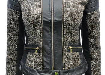Kurka Damska Chanelka Melanż #127 Czarny Brąz Zieleń Sklep