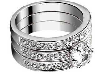 Trzy pierścionki w jednym :) Cyrkonie
