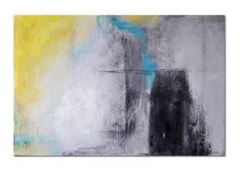 Abstrakcja XZS, obraz ręcznie malowany