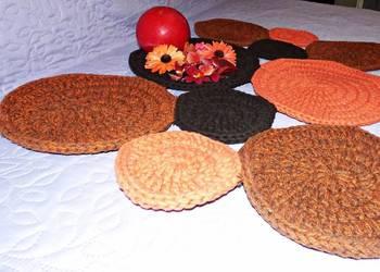 Bawełniany szydełkowy dywan -rękodzieło