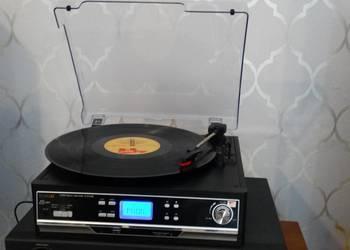 Gramofon USB BT.mp-3 wzm. głośniki. WYSYŁKA
