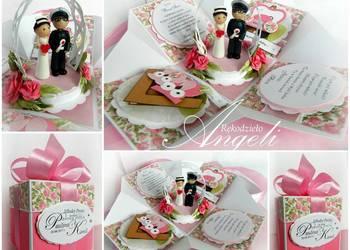 Exploding Box na Ślub**Pudełko Ślubne**Kartka na Ślub