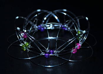 Kwiat Lotosu | Mandala 3D | Zabawka z drutu metal | HANDMADE