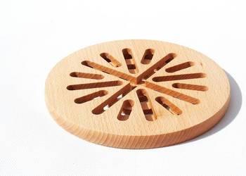 drewniana PODSTAWKA podkładka na garnek OKRĄGŁA