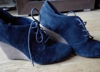 Buty botki Reserved zamszowe na koturnie koturny wiązane na sprzedaż  Warszawa