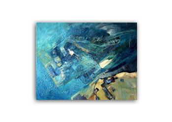 """Obraz olejny, abstrakcja - """"Wielki błękit"""""""