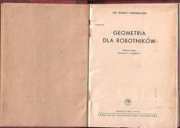 (8695) GEOMETRIA DLA ROBOTNIKÓW – INŻ. MARIAN CHRZANOWSKI