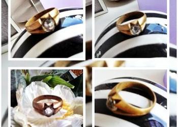 Stary piękny pierścionek średnica 19 mm