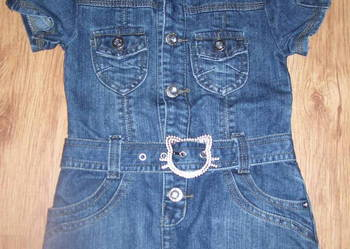 Sukienki/sukienka jeans CUDO!!! rozmiar 92/98/104
