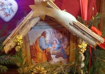 Szopka bożonarodzeniowa, ozdoby świąteczne rękodzieło