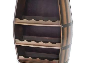 Beczka na wino stojak na alkohol w kształcie beczki barek