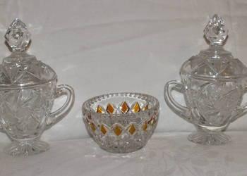 Eleganckie i stylowe kryształowe puzderka/ cukierniczki