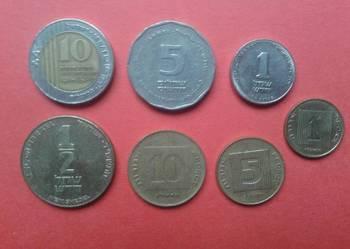 Monety Izrael 7 sztuk