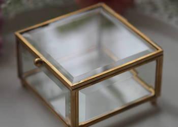 Szklana szkatułka na obrączki - biżuterię PROMOCJA 169 zł!