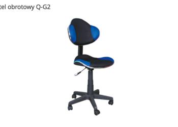 Krzesło obrotowe Q-g2, fotel flash niebiesko czarny, od ręki