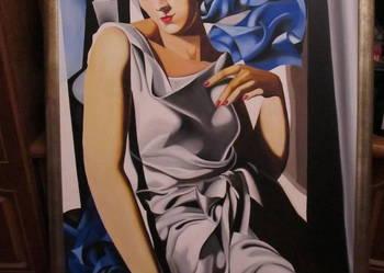 Portret pani M ,olej na płótnie 110x75