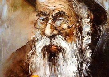 Żyd  z pieniążkiem - Obraz olejny 30x40