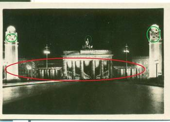 Berlin Brandenburger Tor festlich beleuchtet lata 30-te 40?