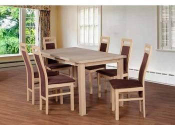 Stół 80/150/190 + 6 krzeseł-Tani zestaw !