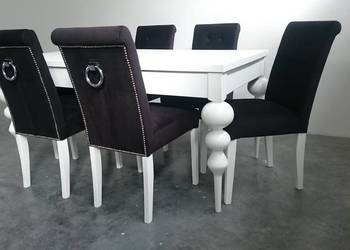 WYJĄTKOWE krzesło glamour z kołatką tapicerowane producent