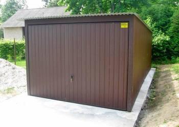 Garaż blaszany 3x5 z bramą uchylną garaże blaszaki w kolorze