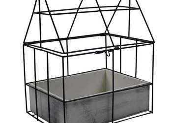 Domek na doniczki - metalowy