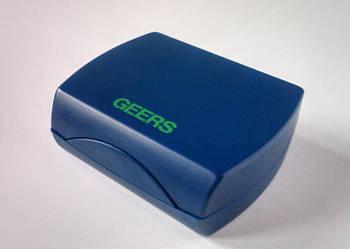 Etui / pudełko Geers na aparat słuchowy.