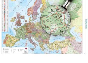 Mapa Europy Europa Kodowo Drogowa 1 2500000 Katowice Sprzedajemy Pl