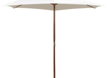 vidaXL Parasol ogrodowy, 270x270 cm, drewniany 42962