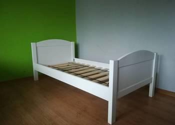 Drewniane łóżko 160x80 białe dziecięce