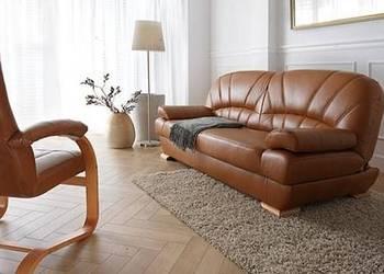 Kanapa sofa wersalka PORTO rozkładana , naturalna skóra Gniewkowo