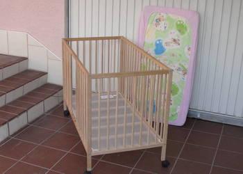 * łóżeczko dziecięce 65x125cm. na kółkach używane Sprzedam