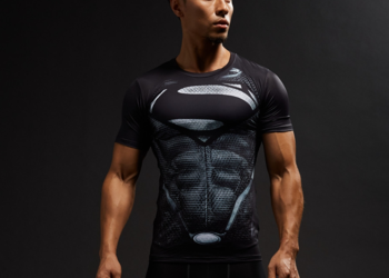 Koszulka Termoaktywna SIŁOWNIA Rashguard Superman rozmiar. M