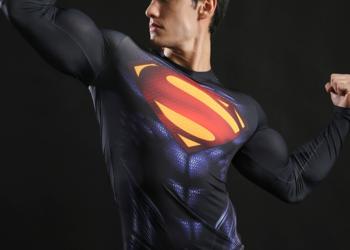 Koszulka Termoaktywna Rashguard NA SIŁOWNIE Superman roz.XL