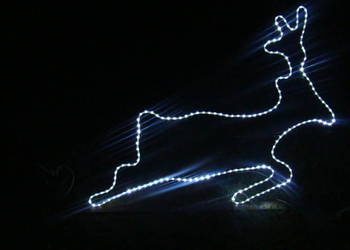 Renifer - ozdoby świąteczne LED 2D wąż OKAZJA