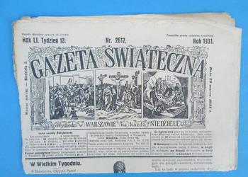 13. Gazeta Świąteczna Rok wydania 1931 - Bezpłatna wysyłka.