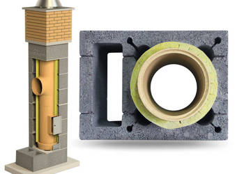 Komin Systemowy Ceramiczny 10mb KW Fi 180 200 BKU